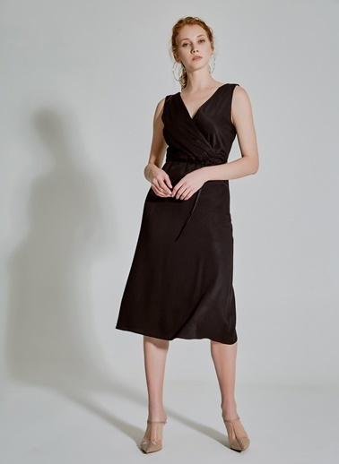 People By Fabrika Kruvaze Elbise Siyah
